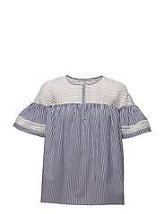 Short sleeve striped top - COMBO S