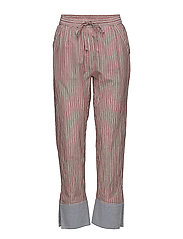 Tapered leg lurex striped pants - COMBO X