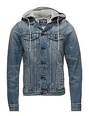 Ams Blauw washed trucker jacket - DENIM BLUE