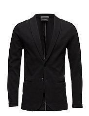 Ams Blauw bonded sweat blazer jacket - BLACK