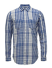 Relaxed fit bold tea towel checked shirt - COMBO B