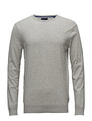 Ams Blauw crew neck knit regular fit - GREY MELANGE