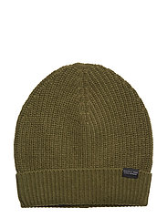 Club Nomade beanie hat in luxury cashmere quality - OLIVE GREEN