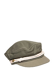 Cotton peached cap - OLIVE GREEN