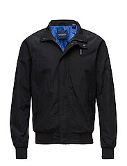 Simple Ams Blauw harrington jacket - BLACK