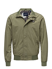 Simple Ams Blauw harrington jacket - MILITARY GREEN