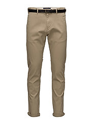 Stuart in peached twill with belt - SAND