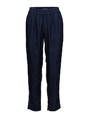 Feminine tapered pants - INDIGO