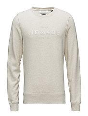 Club Nomade crew neck sweat regular fit - ECRU MELANGE