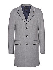 Classic 3-button coat in wool blend quality - LIGHT GREY MELANGE