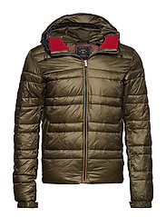 Classic hooded down jacket - ARMY