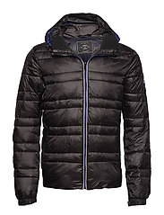 Classic hooded down jacket - BLACK
