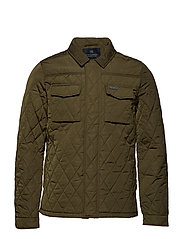 Classic quilted shirt jacket - ARMY
