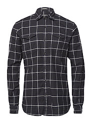 SLIM FIT Brushed rocker check shirt - COMBO D