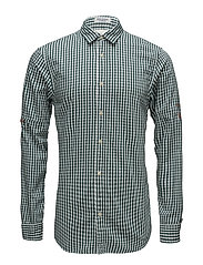 REGULAR FIT Checked shirt with sleeve roll-up - COMBO B