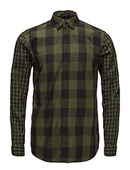 REGULAR FIT Checked shirt with sleeve roll-up - COMBO D