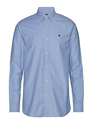 NOS Oxford shirt regular fit button down collar - BLUE