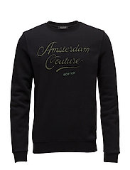 Classic sweat with logo chest artwork - BLACK