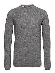 Structured rocker pull in wool blend quality - GREY MELANGE