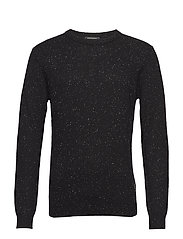 Crewneck pullover in wool blend quality with neps - COMBO B