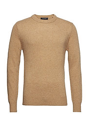 Crewneck pullover in wool blend quality with neps - COMBO E