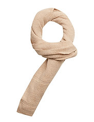 Classic wool scarf in structured knit - KIT MELANGE