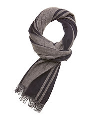 PREMIUM SELECTION striped woven scarf in soft wool quality - COMBO A