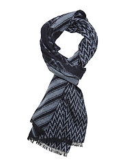 Wool blend scarf in mix & match jacquard patterns - COMBO B