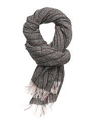 Chic woven wool scarf with herringbone pattern - COMBO B
