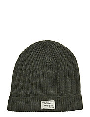 Classic beanie in structured knit - MILITARY MELANGE