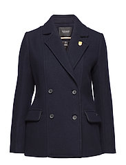 Classic peacoat with piping details - NIGHT
