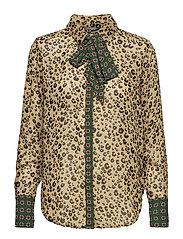 Mixed print shirt with bow - COMBO B