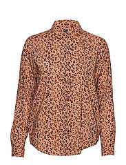 Oversized boxy fit cotton viscose shirt in various prints - COMBO A