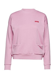 High neck sweat with pockets - ALPINE PINK