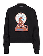 High neck boxy fit sweat with various artworks
