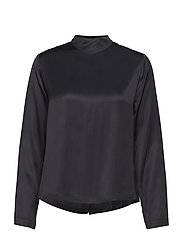 High neck top with press buttons at backpanel - NIGHT
