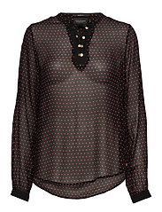 Viscose top with lace up detail - COMBO S