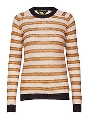 Knitted crew neck in colourful stripes