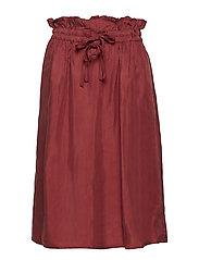 Cupro skirt with tie detail at waistband - RAISIN