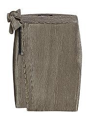 Velvet corduroy mini skirt with side tie detail - RHINO