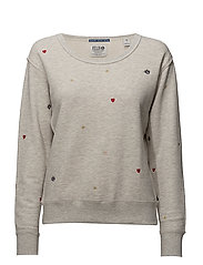 Ams Blauw Felix the cat crew neck sweat - LIGHT GREY MELANGE