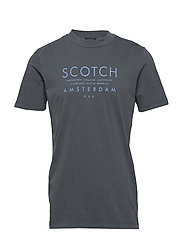 Garment-dyed tee with clean chest logo artwork - ANTRA