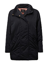 Technical cocoon jacket - BLACK