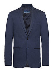 Ams Blauw stretch denim suit jacket - INDIGO