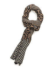 Knitted scarf in animal & geo pattern - COMBO A