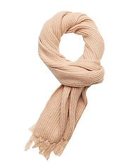 Wool blend knitted scarf - PEARL PINK