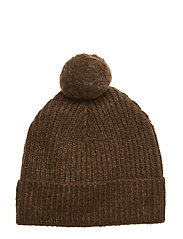 Wool blend knitted beanie - MILITARY MELANGE
