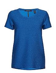Short sleeve lurex tee - MOUNTAIN BLUE