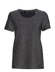 Short sleeve lurex tee - NAVY