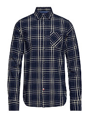 Ams Blauw brushed cotton checked shirt - COMBO A